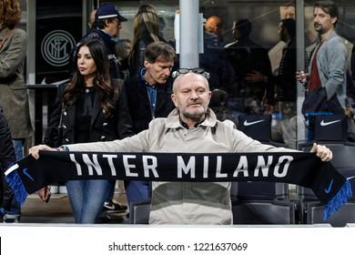 Milan, Italy. 21-10-2018. Campionato Italiano Serie A. Inter vs Milan 1-0. Andrea Pucci, actor and tv host, supporter Inter.