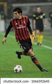 "Milan, Italy , 22 OCTOBER 2013, ""G.MEAZZA SAN SIRO "" Stadium,  UEFA Champions League 2013/2014, AC Milan - FC Barcelona: Kaka in action during the match"