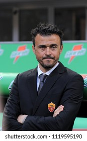 "Milan  Italy, 24 March 2012, ""G.MEAZZA SAN SIRO "" Stadium, Serious Football Championship A 2011/2012,  AC Milan - AS Roma: The Roma coach Luis Enrique before the match"