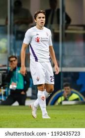 Milan, Italy. 25-09-2018. Campionato Italiano Serie A. Inter vs Fiorentina 2-1. Federico Chiesa, Fiorentina.