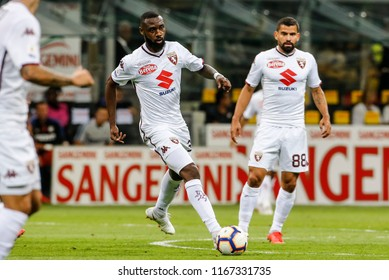 Milan, Italy. 26 August 2018. Campionato Italiano di SerieA, Inter vs Torino 2-2. Nicolas Nkoulou, Torino.