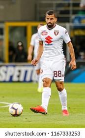 Milan, Italy. 26 August 2018. Campionato Italiano di SerieA, Inter vs Torino 2-2. Thomas Rincon, Torino.