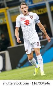 Milan, Italy. 26 August 2018. Campionato Italiano di SerieA, Inter vs Torino 2-2. Andrea Belotti, Torino.