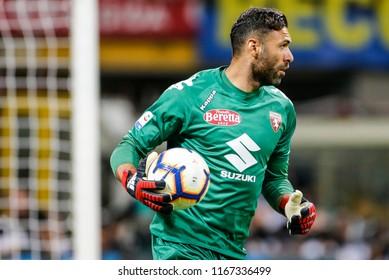 Milan, Italy. 26 August 2018. Campionato Italiano di SerieA, Inter vs Torino 2-2. Salvatore Sirigu, goalkeeper Torino.