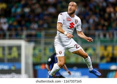 Milan, Italy. 26 August 2018. Campionato Italiano di SerieA, Inter vs Torino 2-2. Lorenzo de Silvestri, Torino.