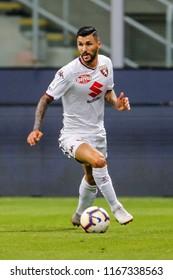 Milan, Italy. 26 August 2018. Campionato Italiano di SerieA, Inter vs Torino 2-2. Roberto Soriano, Torino.
