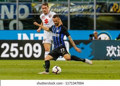 Milan, Italy. 26 August 2018. Campionato Italiano di SerieA, Inter vs Torino 2-2. Marcelo Brozovic, Inter.