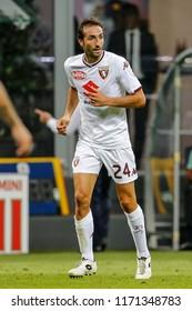 Milan, Italy. 26 August 2018. Campionato Italiano di SerieA, Inter vs Torino 2-2. Emiliano Moretti, Torino.