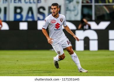 Milan, Italy. 26 August 2018. Campionato Italiano di SerieA, Inter vs Torino 2-2. Iago Falque, Torino.