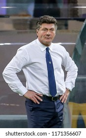 Milan, Italy. 26 August 2018. Campionato Italiano di SerieA, Inter vs Torino 2-2. Walter Mazzarri, coach Torino.