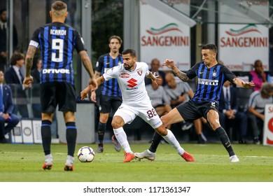 Milan, Italy. 26 August 2018. Campionato Italiano di SerieA, Inter vs Torino 2-2. Tomas Rincon, Torino.