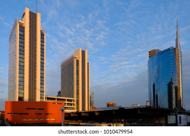 Milan, Italy - 26th January 2018: Porta Nuova Business District Area