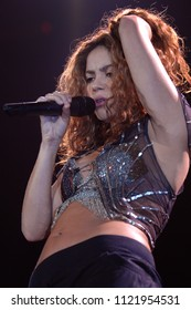 Milan Italy, 27 February 2007  : Live concert of Shakira at the DatchForum Assago : The singer Shakira during the concert