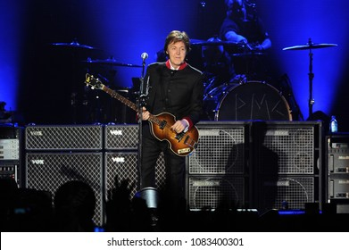 Milan Italy, 27 November 2011,Live concert of Paul McCartney at the  Forum Assago : Paul McCartney during the concert