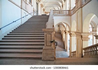 MILAN, ITALY - 28, JULY 2013: Stairs of Pinacoteca di Brera