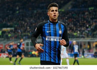 Milan, Italy. 30 December 2017. Campionato Italiano di SerieA, Inter vs Lazio 0-0. Joao Cancelo, Inter.