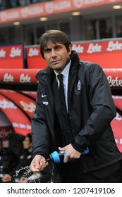 "Milan  Italy, 30 March 2013, ""G.MEAZZA SAN SIRO "" Stadium, Serious Football Championship A 2012/2013, FC Inter - FC Juventus:The Juventus coach Antonio Conte before the match"