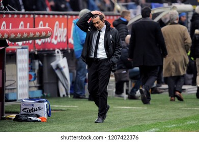 "Milan  Italy, 30 March 2013, ""G.MEAZZA SAN SIRO "" Stadium, Serious Football Championship A 2012/2013, FC Inter - FC Juventus:The Juventus coach Antonio Conte during the match"