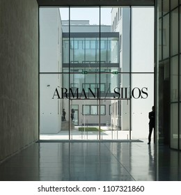 MILAN, ITALY - 5 JUNE 2018: entrance to the museum of Armani in Milan