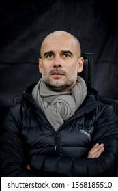 Milan, Italy. 6 November 2019. UEFA Champions League, Atalanta vs Manchester City 1-1. Josep Guardiola, coach Manchester City.