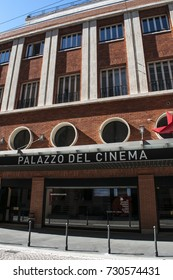Milan, Italy, 7/10/2017: view of the new Anteo, the Palace of Cinema (Palazzo del Cinema) with eleven cinemas inaugurated on September 8, 2017, between the Brera district and Porta Nuova Garibaldi