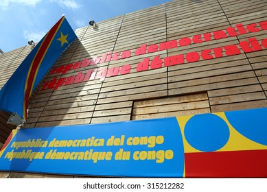 Milan, Italy - 8th September, 2015. International Exposition EXPO MILANO 2015. Detail of Congo Pavilion
