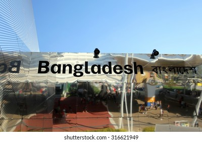 Milan, Italy - 8th September, 2015. International Exposition EXPO MILANO 2015. Detail of Bangladesh  avilion