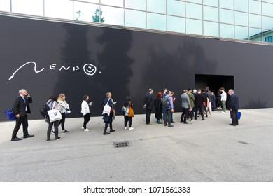 MILAN, ITALY - APR 16, 2018: Superdesign show Exhibition during the week of Milan Furniture Fair 2018.