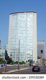 MILAN, ITALY - APRIL 26, 2014: Pirelli skyscraper in Piazza Duca D'Aosta, former Regione Lombardia headquarter, in Milan, Italy