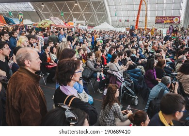 MILAN, ITALY - APRIL 27: People visit Orient Festival, event dedicated to Oriental culture and traditions on APRIL 27, 2014 in Milan.