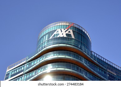MILAN, ITALY - APRIL 30: building axa on April 30, 2015 in Milan, Italy