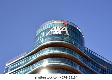 MILAN, ITALY - APRIL 30: building axa on April 30, 2015 in Milan, Italy