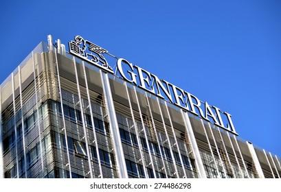 MILAN, ITALY - APRIL 30: building Generali, on April 30, 2015 in Milan, Italy