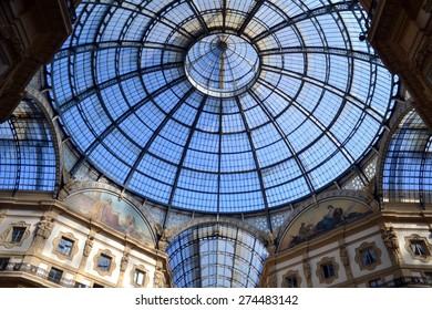 MILAN, ITALY - APRIL 30: gallery Vittorio Emanuele , on April 30, 2015 in Milan, Italy