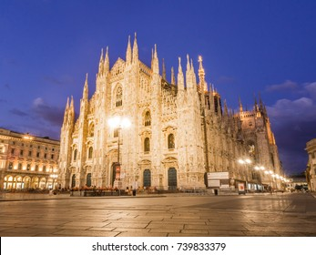 MILAN, ITALY -? AUGUST 09,2017: Milan Cathedral, Duomo di Milano, by night.