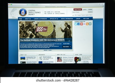 Milan, Italy - August 10, 2017: Cia website homepage. It is a civilian foreign intelligence service of the United States federal government. Cia logo visible.