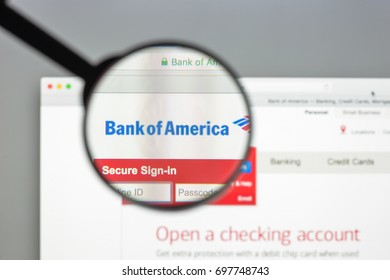 Milan, Italy - August 10, 2017: Bank of America website homepage. It is a multinational banking and financial services corporation.