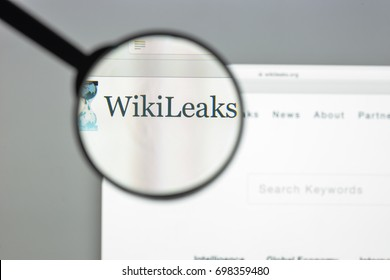 Milan, Italy - August 10, 2017: Wikileaks website. It is an international non-profit organisation that publishes secret information and classified media provided by anonymous sources. Wikileaks logo.
