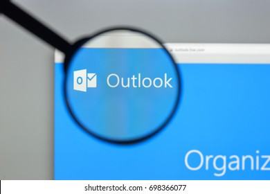 Milan, Italy - August 10, 2017: Outlook website homepage. It is an e-mail and personal information management software product from Microsoft. Outlook.com logo visible.