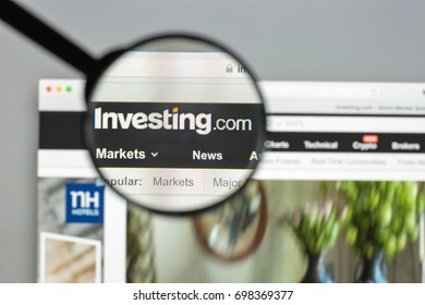 Milan, Italy - August 10, 2017: Investing.com website homepage.  Investing logo visible.