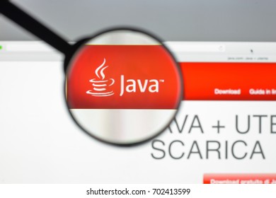 Milan, Italy - August 10, 2017: Java website homepage. It is a set of computer software and specifications. Java logo visible.