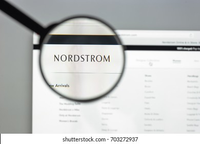 Milan, Italy - August 10, 2017: Nordstrom website homepage. It is an American chain of luxury department stores. Nordstrom logo visible.