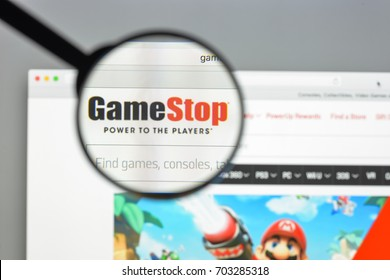 Milan, Italy - August 10, 2017: Gamestop.com website homepage. It is an American video game, consumer electronics, and wireless services retailer. Gamestop logo visible.