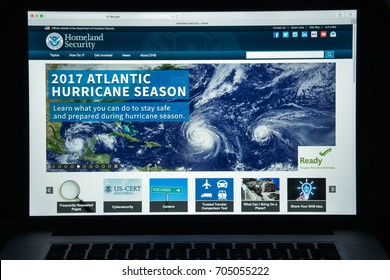 Milan, Italy - August 10, 2017: Homeland Security website homepage. It is a cabinet department of the United States federal government with responsibilities in public security.