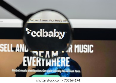 Milan, Italy - August 10, 2017: cdbaby.com website homepage. It is an online music store.  cdbaby.com logo visible.