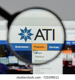 Milan, Italy - August 10, 2017: ATI website homepage. It is a specialty metals company. Allegheny Technologies