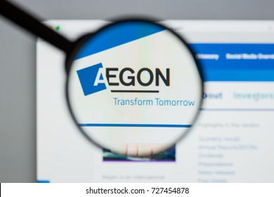 Milan, Italy - August 10, 2017: Aegon
