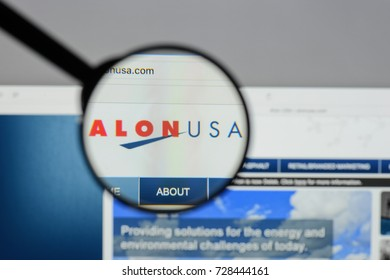 Milan, Italy - August 10, 2017: Alon USA Energy website homepage. It was an independent refiner and marketer of petroleum products. Alon USA logo visible.