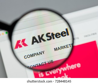 Milan, Italy - August 10, 2017: AK Steel Holding