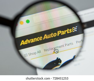 Milan, Italy - August 10, 2017: Advance Auto Parts website. It is now the largest retailer of automotive replacement parts and accessories in the United States. Advance Auto Parts logo visible.